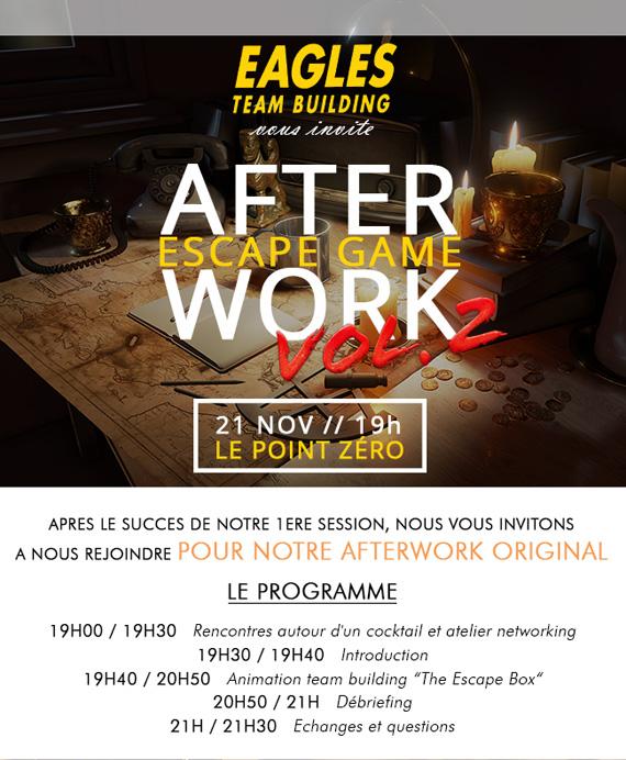 After Work 21 Novembre 19h : Escape Game Vol. 2