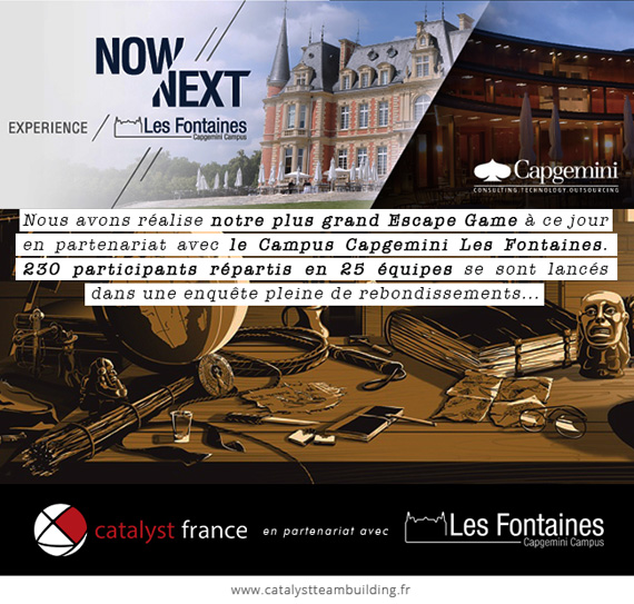 The Escape Box avec Capgemini Campus Les Fontaines