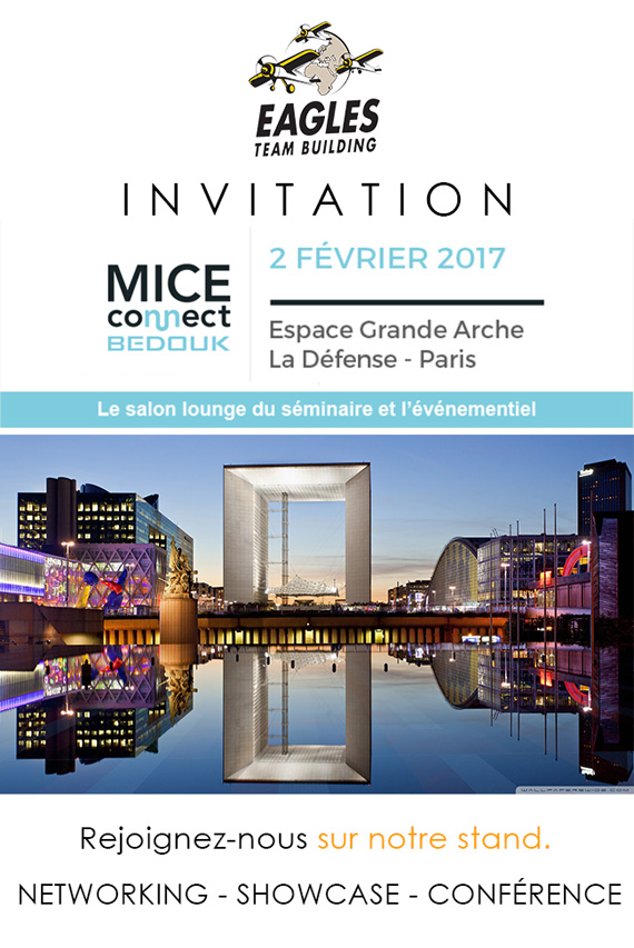 Invitation 2 Février - Mice Connect à la Défense avec Eagles Team Building