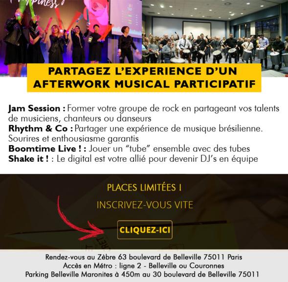 Afterwork musical, Rappel : mercredi 27 Juin - Faites de la musique