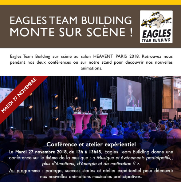 Eagles Team Building monte sur scène !