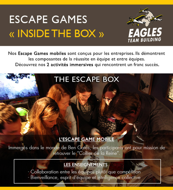 """Escape games """"Inside the box"""""""