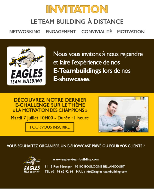 Invitation e-showcase - Découvrez nos e-team buildings à distance