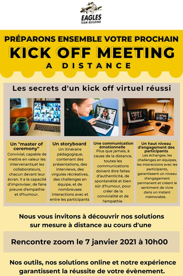 Kick off meeting à distance - les secrets d'un kick off virtuel réussi