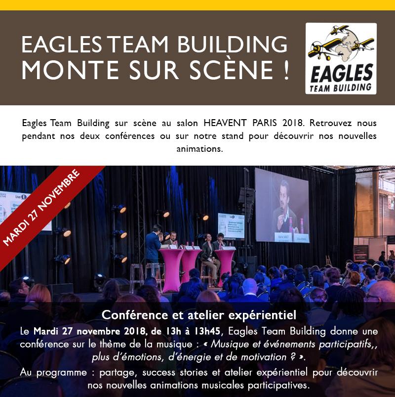 Eagles Team Building monte sur scène !