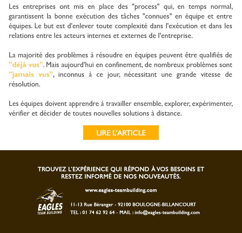 """Equipes et Coronavirus - Comment passer du """"Déjà Vu"""" au """"Jamais Vu""""?"""