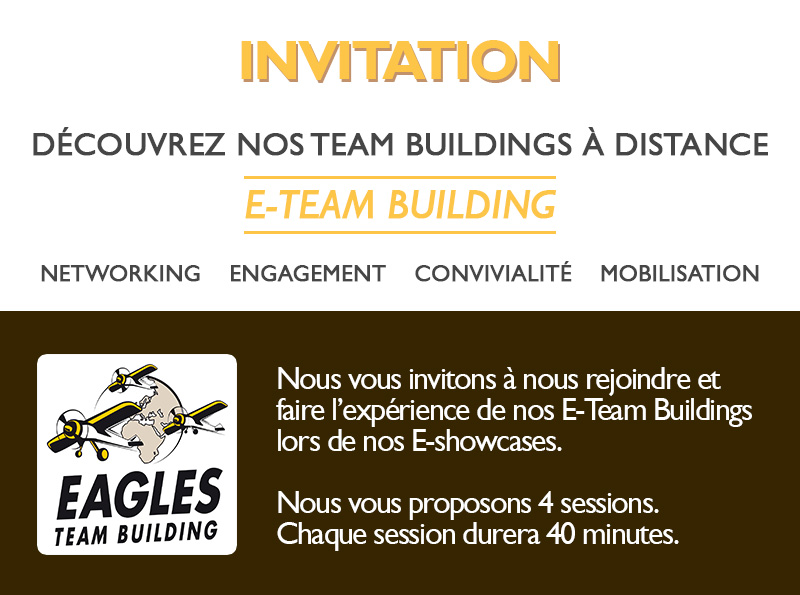 Invitation e-showcase - Découvrez nos e-team buildings à distance