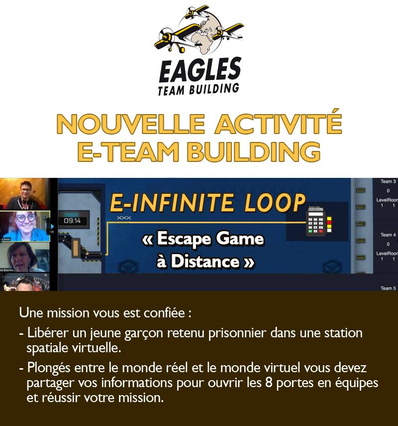 """Invitation : Testez notre Escape Game à distance en équipe """"E-Infinite loop"""""""