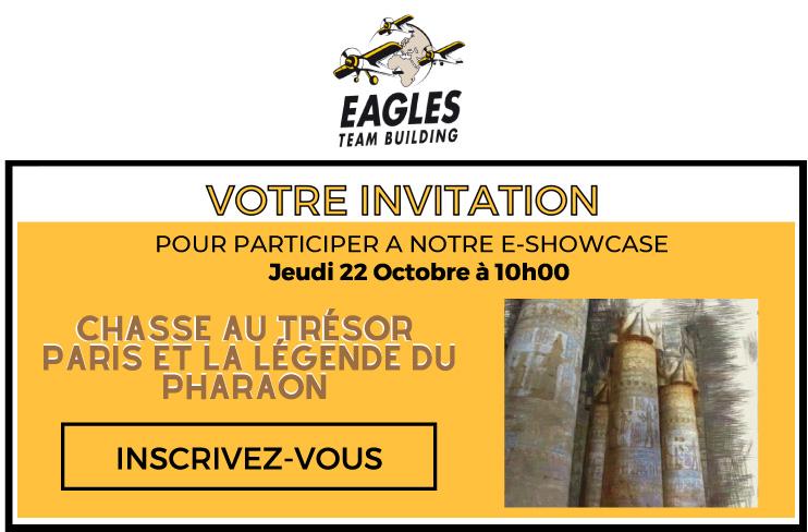 Invitation au E-showcase - 22/10 à 10h : Chasse au trésor Paris et la légende du Pharaon