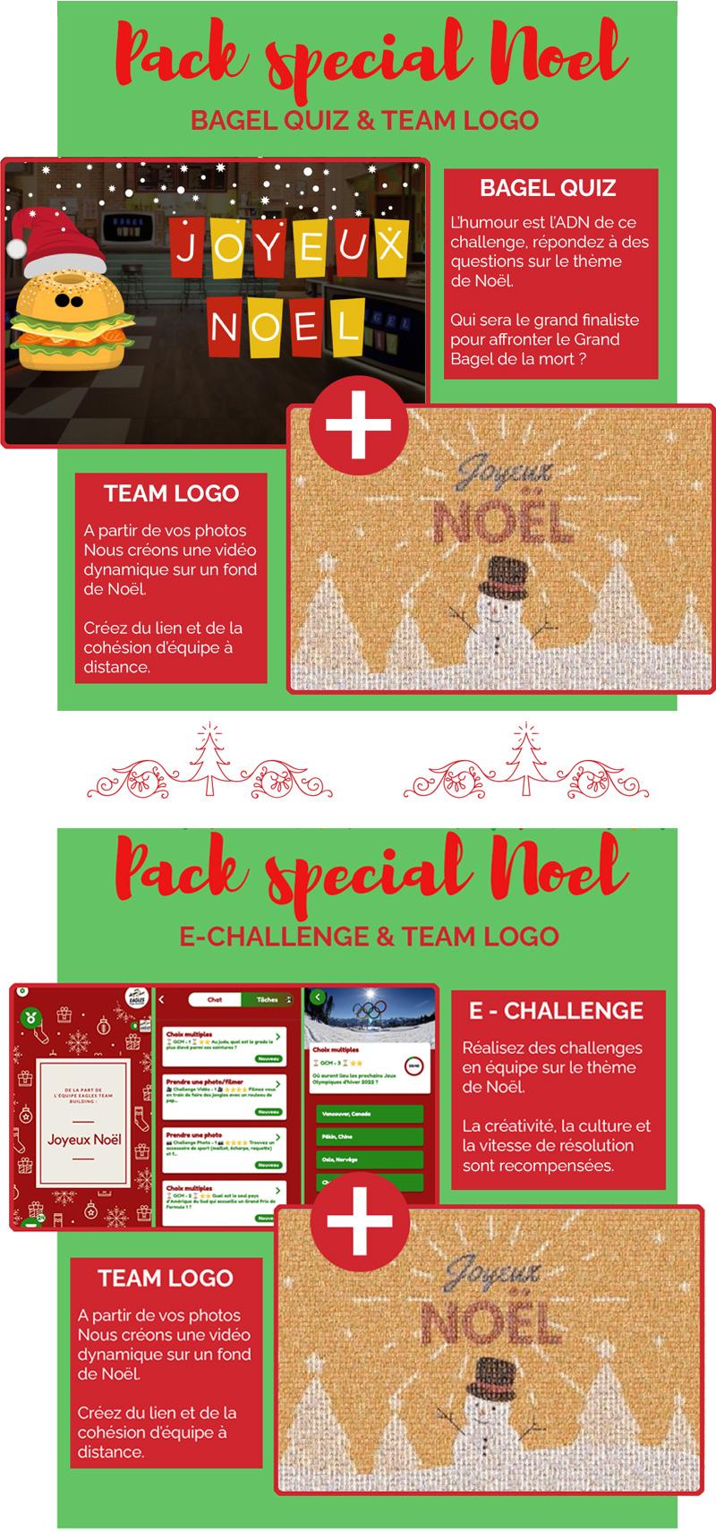 E-Invitation : Nos activités spéciales Noël - Découvrez nos packs