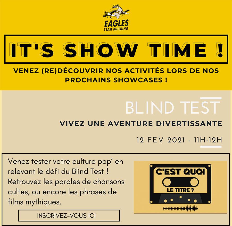 It's Showtime ! Venez (re)découvrir nos activités lors de nos prochains showcases à distance