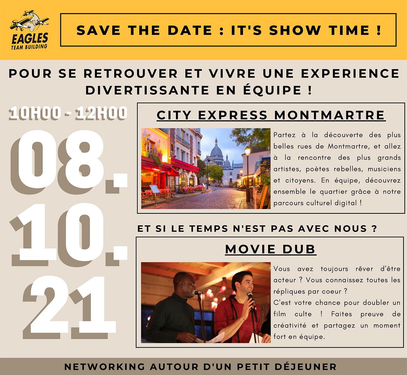 Save the date: 08/10 - Pour se retrouver et vivre une expérience divertissante en équipe !