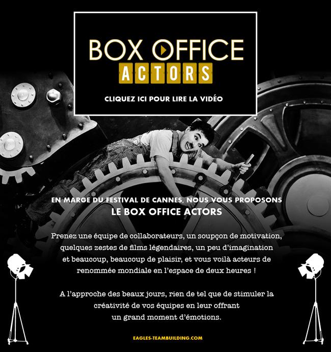 Box Office Actors : Stimulez la créativité de vos équipes